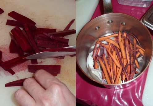 Bouillon rose de bœuf en émincés : étape 2