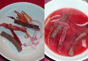 Bouillon rose de bœuf en émincés : étape 7