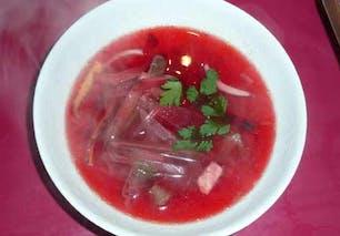 Bouillon rose de bœuf en émincés : étape 8