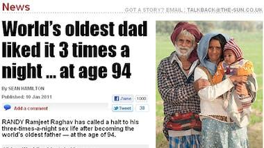 Le plus vieux papa