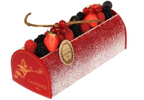 Bûche de Noël Fruits Rouges Vanille