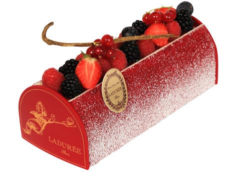 Bûche de Noël Fruits Rouges Vanille