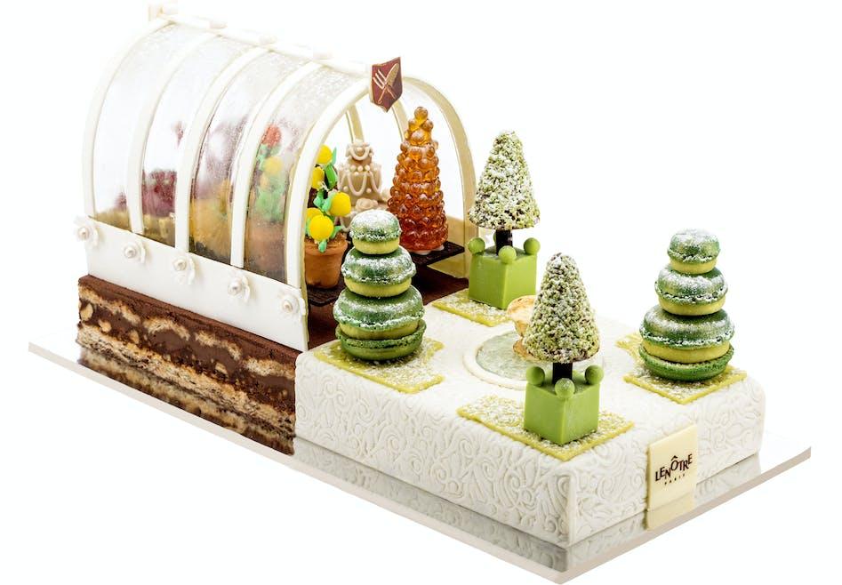 Bûche de Noël Jardin d'hiver