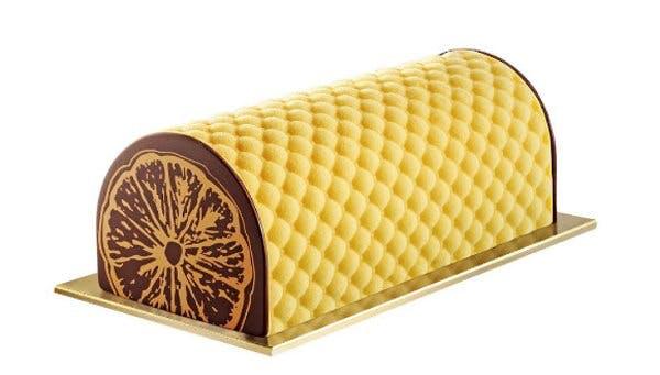 Bûche glacée chocolat-clémentine