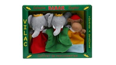 Coffret de 3 marionnettes Babar