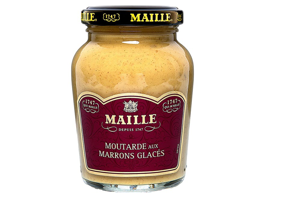 Moutarde aux marrons glacés