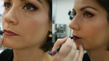 Etape 12 : dessiner les contours des lèvres