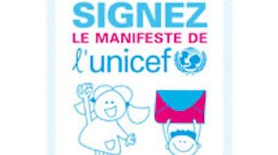 Unicef manifeste, image