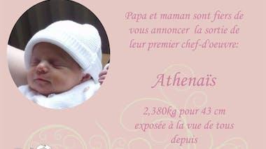 Athenaïs, 5 mois