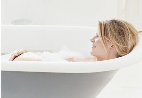 Dans son bain