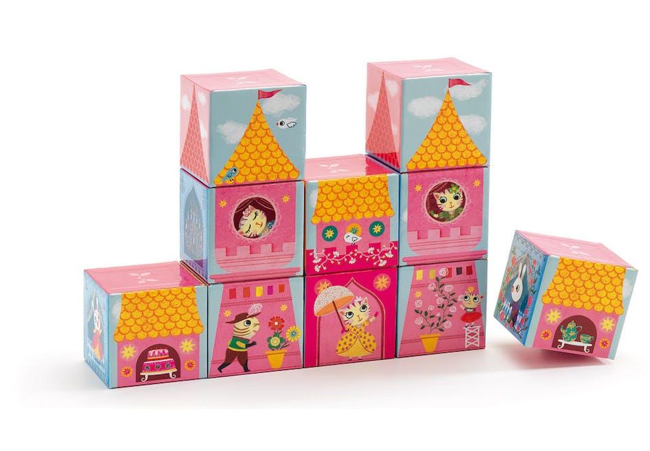 10 cubes château de princesse