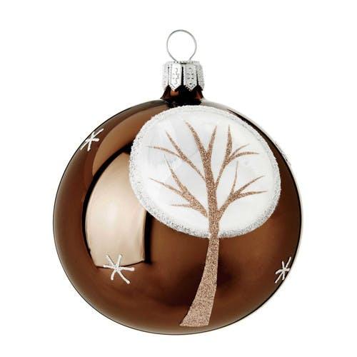 Boule arbre en verre marron