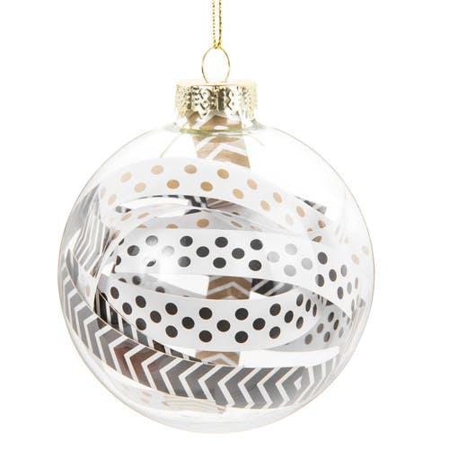 Boule de Noël en verre dorée/noire