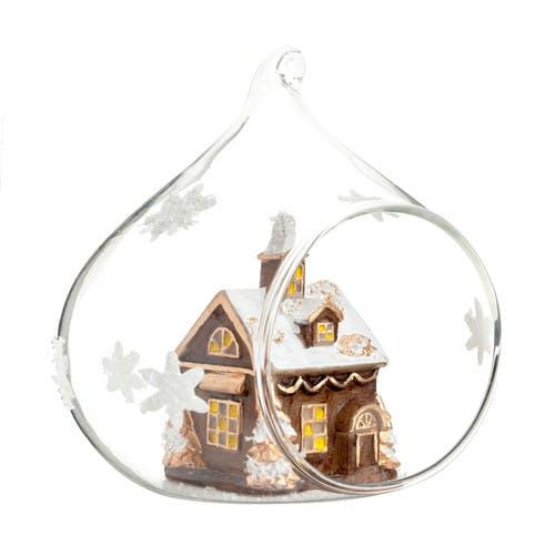 Boule village de Noël