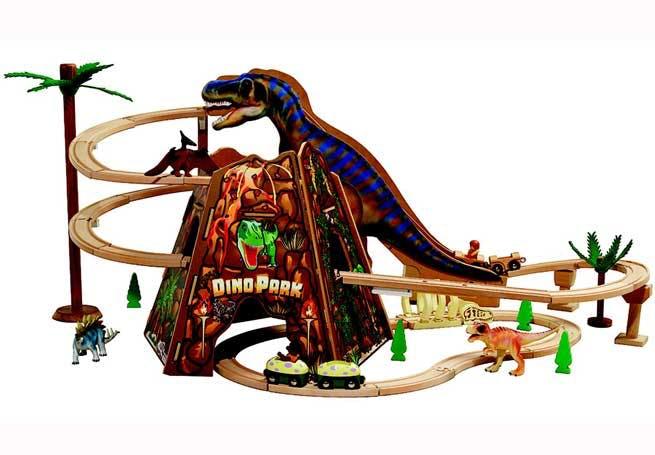 Circuit de train dinosaures