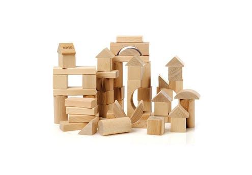 Cubes en bois naturel