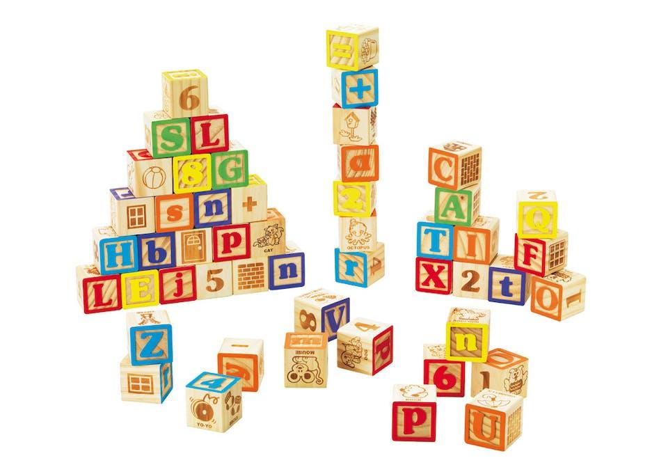 Jeux de 50 cubes en bois