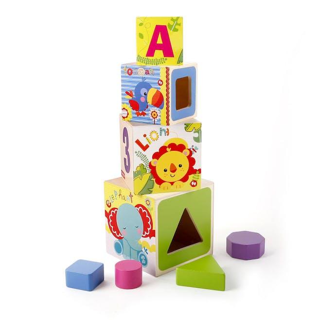 Mes premiers cubes empilables trieurs de formes