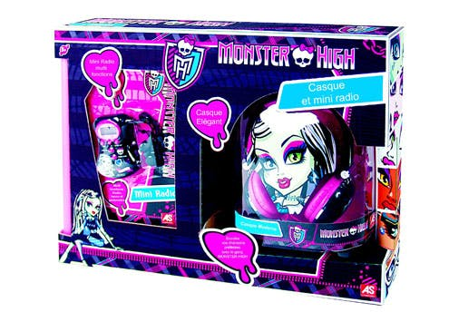 Coffret casque et radio Monster High
