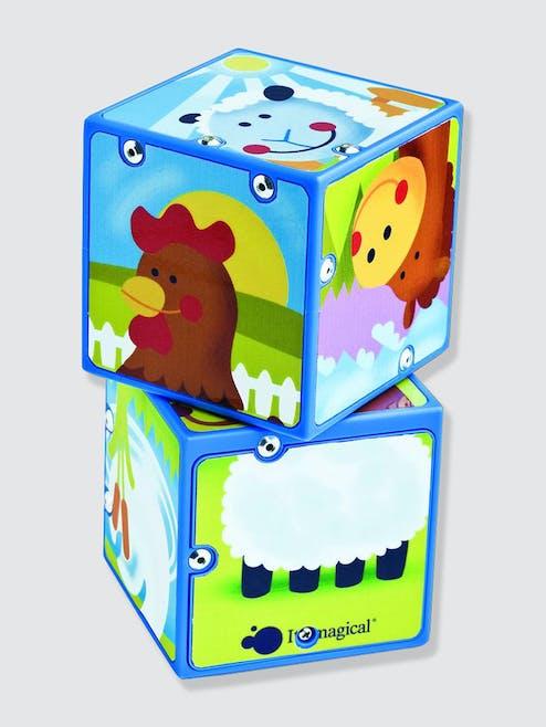 Puzzle cubes animaux Activity Sono-Zoo         Vertbaudet
