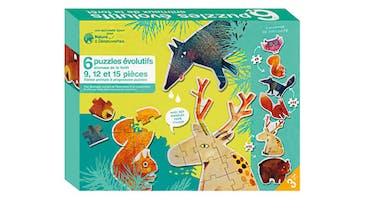 6 puzzles évolutifs de la forêt