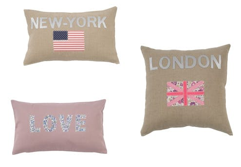 Coussins Love, New-York, London