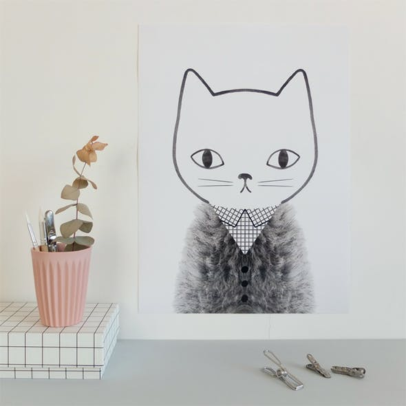 Poster Grid and Fur