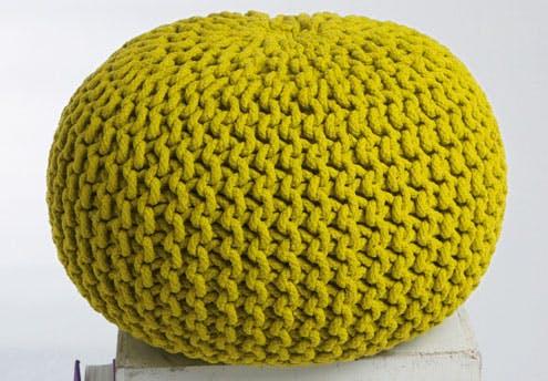 Pouf rond crochet