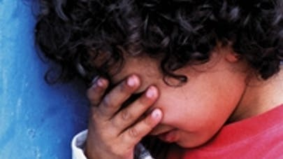 enfant, pleurer, triste