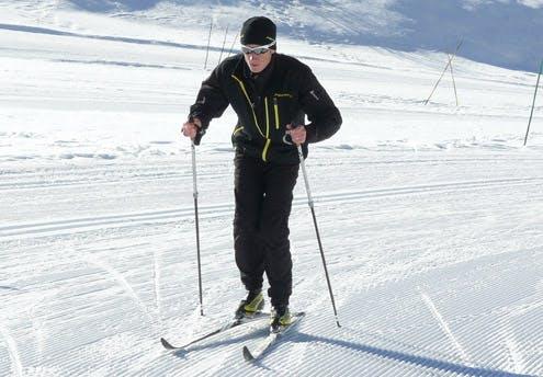 Initiation au ski de fond avec un champion