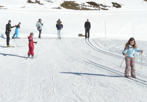 Première descente en ski de fond