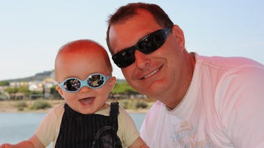 Clément, 8 mois, et son papa
