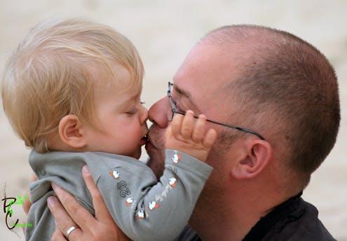 Côme, 10 mois, et son papa