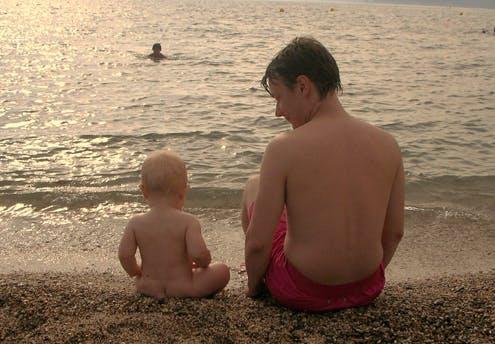 Tristan, 1 an, et son papa