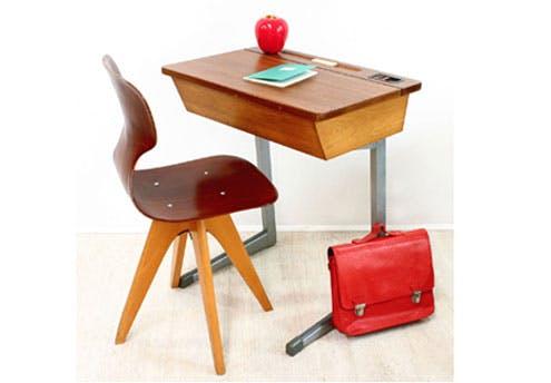 Bureau d'écolier vintage