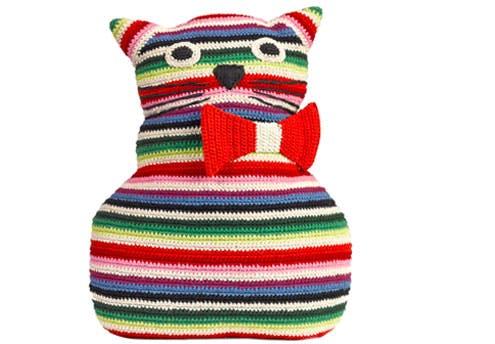 Coussin Chat en crochet