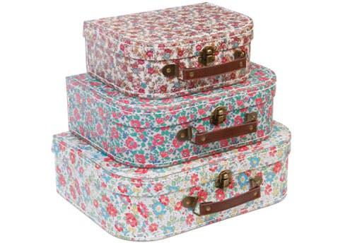 Set de 3 valises English Garden