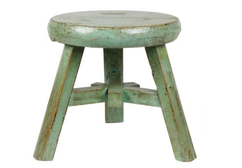 Tabouret chinois patiné