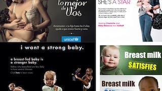 Les campagnes chocs sur l'allaitement