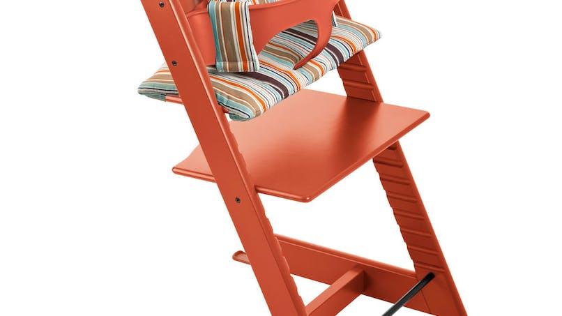 Chaise haute Tripp Trapp de Stokke :   l'emblématique