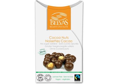Chocolats et noisettes chocolatées