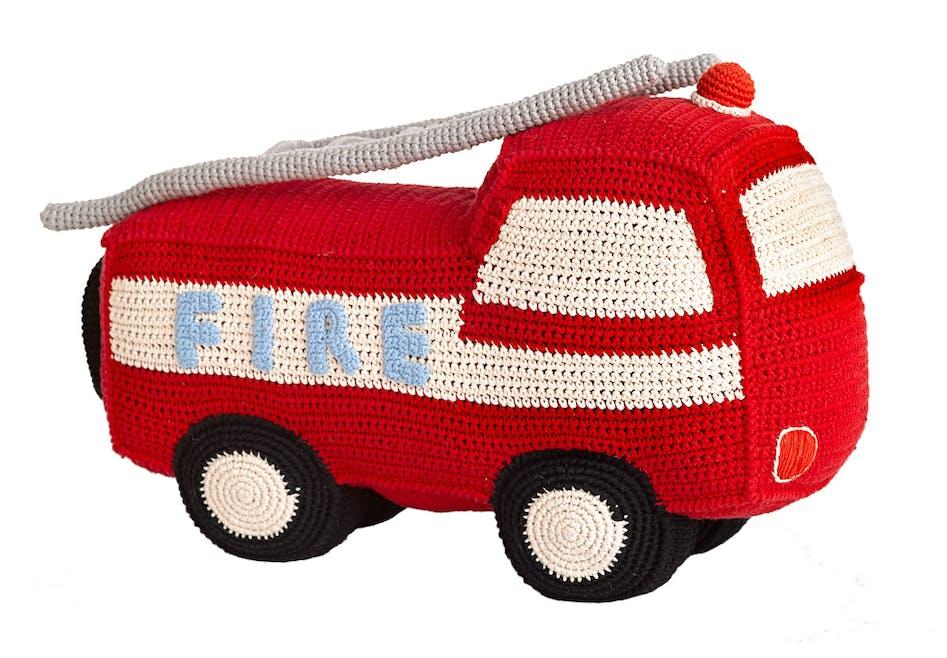 Camion de pompier au crochet