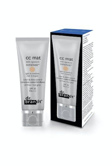 Palmarès maquillage : Dr Brandt, CC mat with signature         shinerase SPF 30