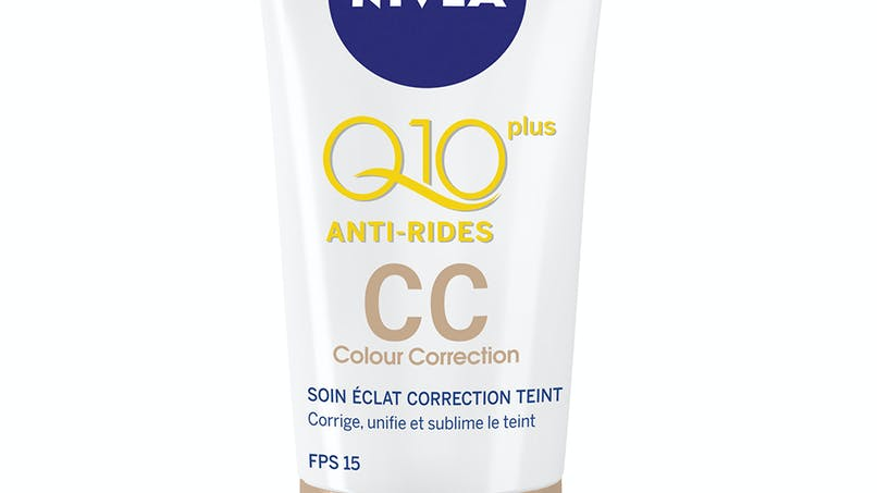 Palmarès maquillage : Nivea, CC crème Q10+ anti-rides         FPS 15, teinte universelle