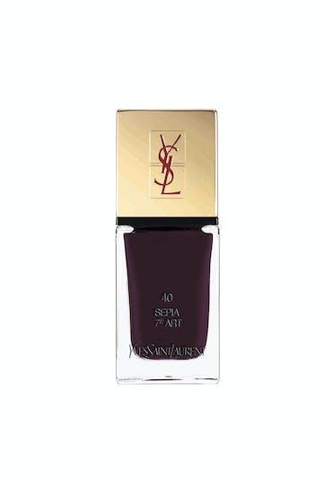 Palmarès maquillage : Yves Saint Laurent, la laque         couture n°40 Sepia 7e art