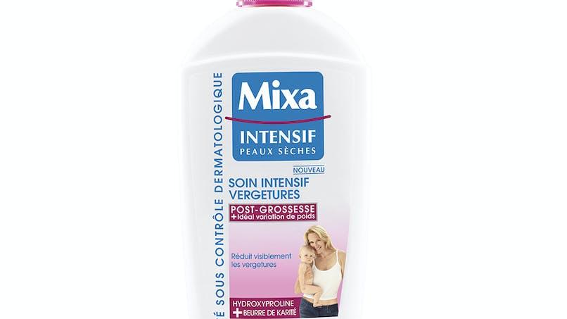 Palmarès soins du corps : Mixa intensif peaux sèches,         soin intensif vergetures post-grossesse