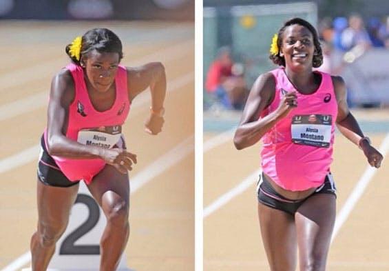 Courir dans un championnat d'athlétisme