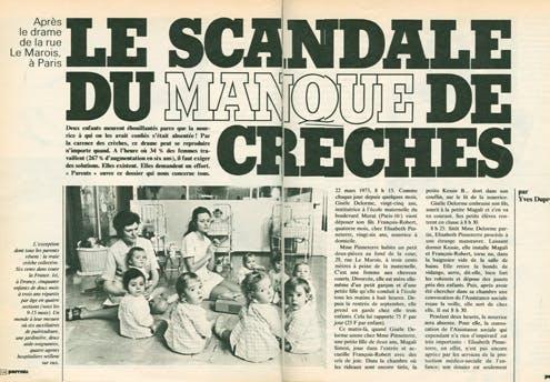 1973 : le manque de crèches fait déjà débat...