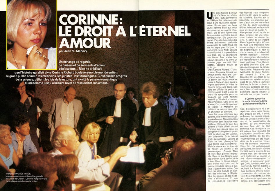 1984 : l'insémination post-mortem
