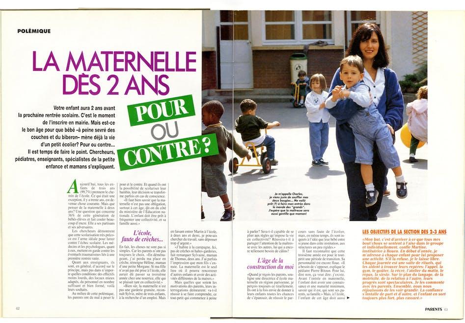 1994 : l'école à 2 ans sur le devant de la scène